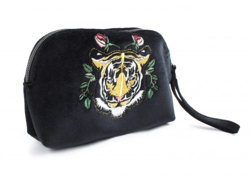 TIGER EMBROIDERY COSMETIC BAG