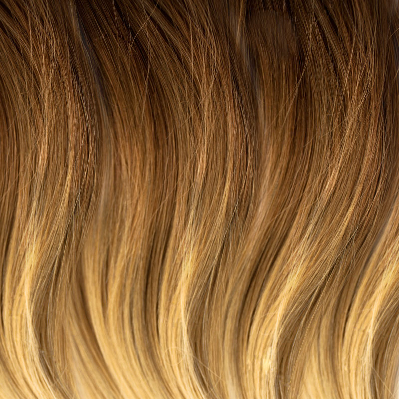 WEFT LIGHT BROWN TO COPPER BROWN OMBRE