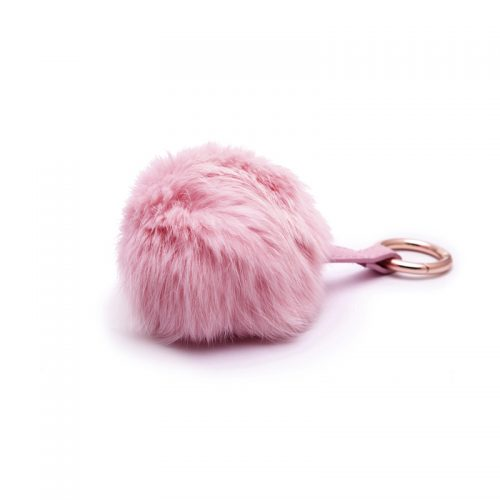 Faux fur keychain Pink