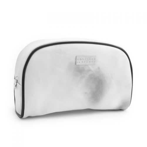 WhiteMarble makeup pouch (large) White