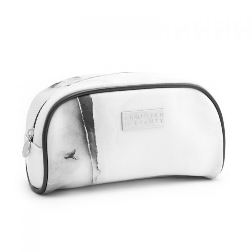 Marble makeup pouch (small) White
