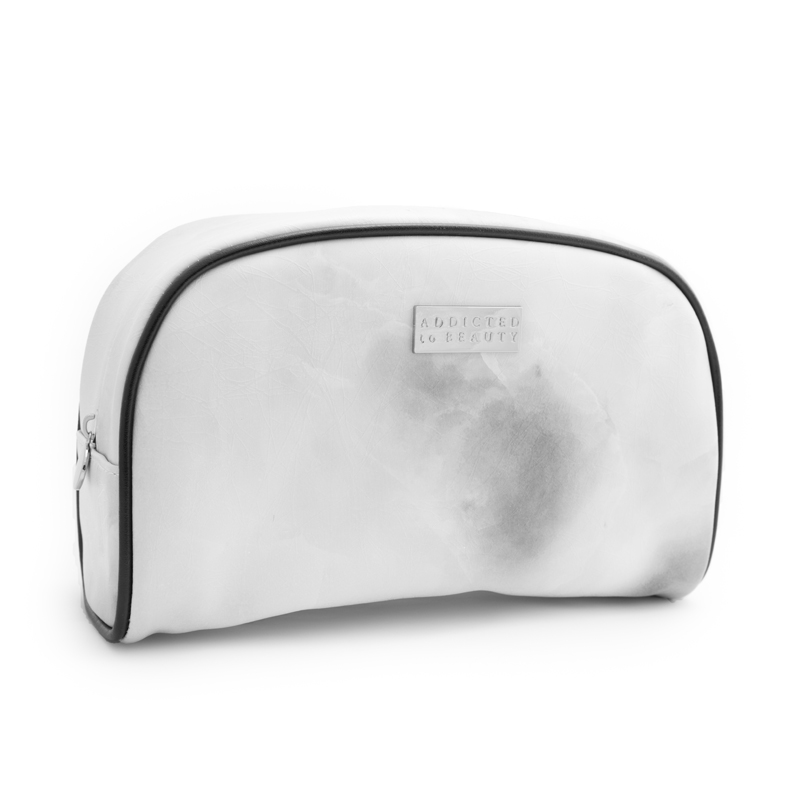 Marble makeup pouch (large) White