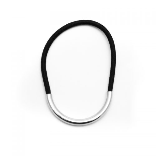 U-shaped elastic silver