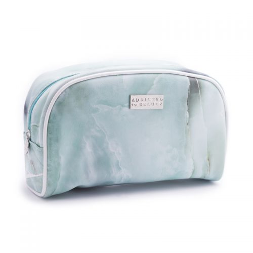Marble makeup pouch (large) Tuquoise